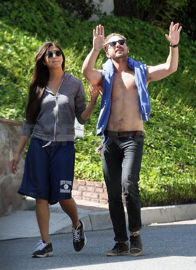 shia labeouf girlfriend 2011. Shia LaBeouf Goes Shirtless