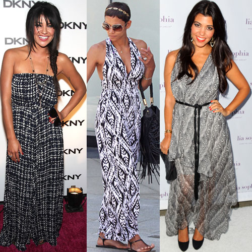 Kourtney Kardashian Black And White Dress